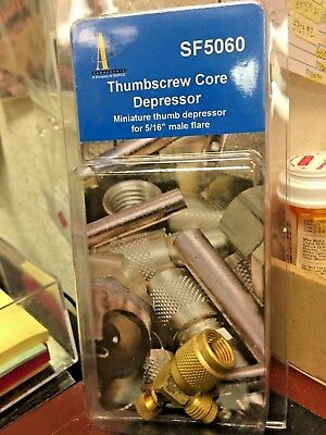 """R410A, A/C 5/16"""" Access Valve Thumbscrew Core Depressor, Made for R410a, SF5060"""