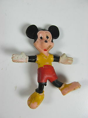 RARE 1960s Vintage Disney Mickey Mouse 2 1/2 3in Rubber Figures