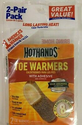 HotHands Toe Warmers Adhesive Up to 8 Hours of Heat 3 packs (2 pair per pack)