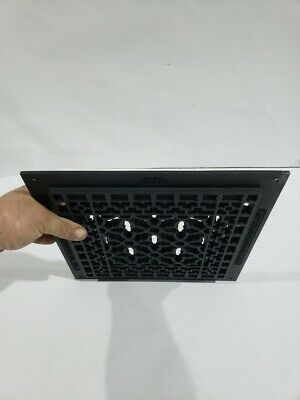 Reggio Registers Scroll Cast Iron Grille Black w/Mounting Holes 1212-H