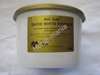 1 x 500gm GOLD LABEL SHOW WHITE POWDER FOR HORSES AND ANIMALS