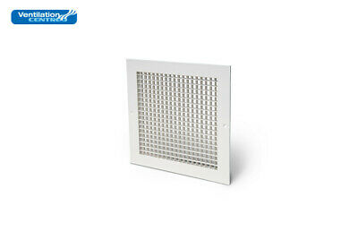 Aluminium egg crate grille white ventilation office ceiling supply extract vent