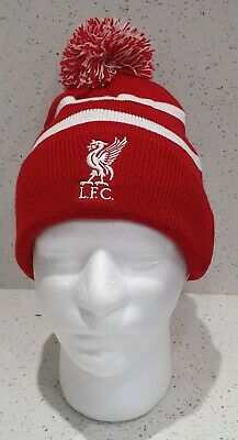 Liverpool Official Brand 47 Range Bobble Hat - Red and White Stripe - Kids