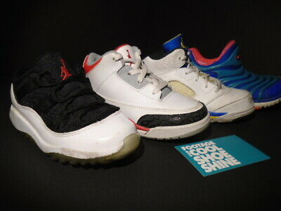 0d1532af9244 BABY SHOES LOT Nike Air Jordan 3 5 11 Retro Dynamo Ps Fire Red Laney ...