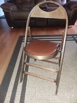 Vintage Antique Bent Wood Folding Chair Funeral Home Parlor Lotz Salem