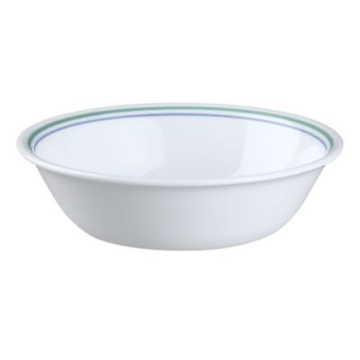 4 CORELLE CORNING COUNTRY COTTAGE WHITE BLUE 18oz SOUP CEREAL BOWL SET OF 4 NEW