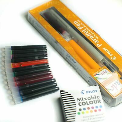 Pilot Parallel FP3-24 Calligraphy Pen - 2.4mm + FREE 12 Assorted Ink Cartridges