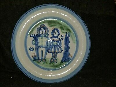 M.a. M. A. Hadley Country Farmer Wife Pottery Charger Platter Chop Plate 12 5/8""