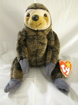 3c59d8dfc25 Ty Beanie Babies Slowpoke the Sloth 1999 Rare with Errors Retired New
