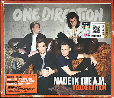 ONE DIRECTION Made In A.M MALAYSIA DELUXE DIGIPAK CD + 4 BONUS TRX FREE SHIPMENT