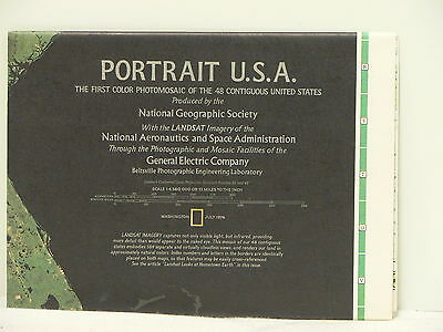 Vintage 1976 National Geographic Double-sided Map of Portrait USA