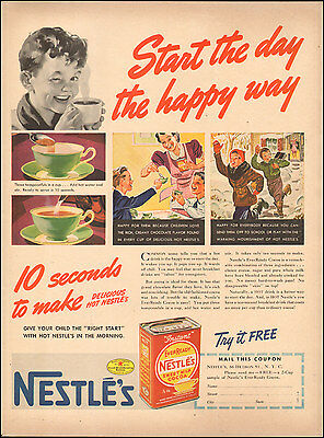 1939 Vintage ad for Nestle's Ever Ready Cocoa Art  Coupon   (051517)