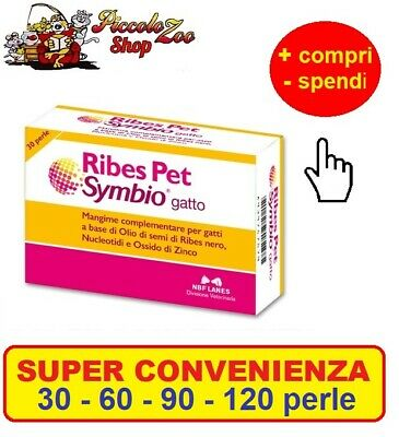Ribes Pet Symbio gatto 30-60-90-120 perle ripristino barriera cutanea,intestinal