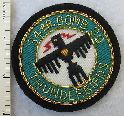 34th BOMB SQUADRON Bullion PATCH US AIR FORCE Custom Sewn for USAF VETERANS
