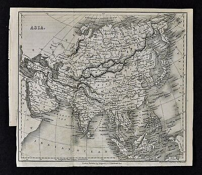 c 1824 Hall Map - Europe - Spain France Germany Italy Austria Britain Russia