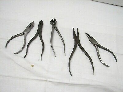 Lot Antique Blacksmith Hand Forged Pliers Tools Stubs Snips