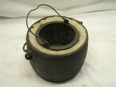 Antique S&P Phila Cast Iron No. 2 Glue Pot Double Boiler Fire Place Kettle Pot