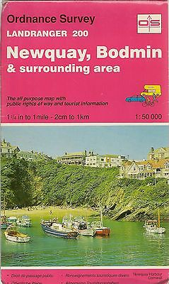 Ordnance Survey Landranger Map No 200 NEWQUAY & BODMIN -1992