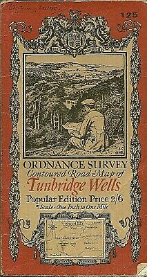 Ordnance Survey Map No 125 TUNBRIDGE WELLS. - 1920 - cloth
