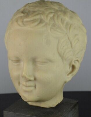"Head Of Eros, The God Of Love, Classic GREEK, B.M. Replica Small 9.75"" Tall Mint"