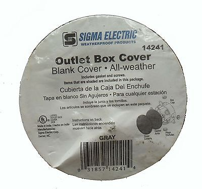Sigma Electric 14241 Outlet Box Covers All Weather Gray lot of 5