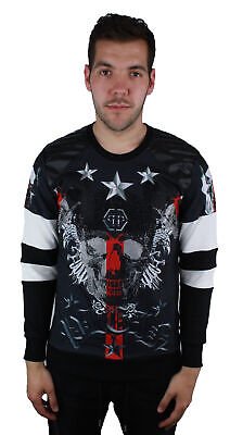 "Philipp Plein MJO0048 ""Castle"" R004 Red Blood Jumper"