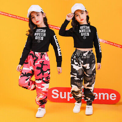 Girls Street Dance Performance Clothing Hip Hop Jazz Dance Competition Costume