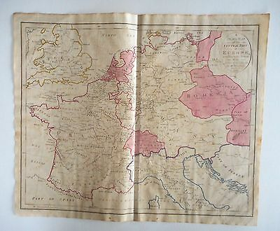 Antique 18th Century Map 1799 – Plain Map of Central Part of Europe - Gaultier