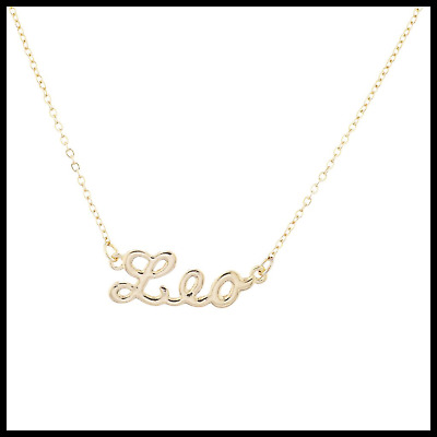 9858bb6d2106e LUX ACCESSORIES GOLD Tone Zodiac Leo Astrological Engraved Charm ...