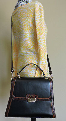 Brahmin Brinley Black Tuscan Tri Texture Leather With Soft Checkbook Wallet NWT