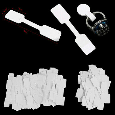 50/100Pcs Blank price tags necklace ring jewelry labels paper stickers UK