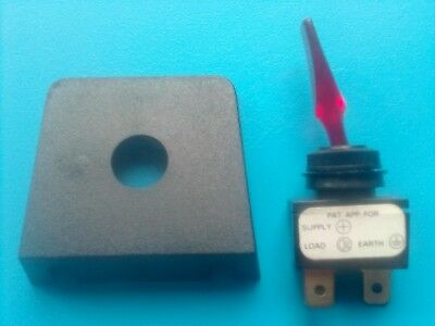 Bulk Head Toggle On/Off Switch Complete With Mounting Plate