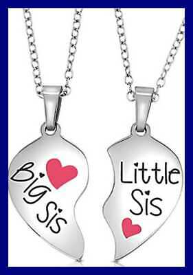 701a83e09e Matching Big Sis Little Lil Sisters Necklace Jewelry Gift Set Sister  Necklaces F
