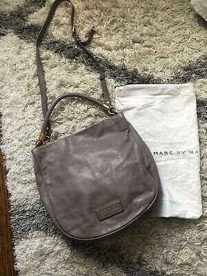 75a51581e8f Marc by Marc Jacobs Classic Q Hillier Hobo Crossbody Leather Bag (Color  Grey)