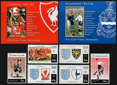1995 Gugh Island - FA Cup Football Stamp Set (GB Locals / Great Sporting Events)