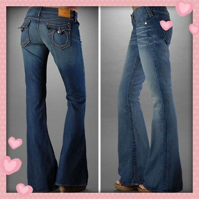26349ec08  229 NWT TRUE Religion CARRIE Flare Jeans