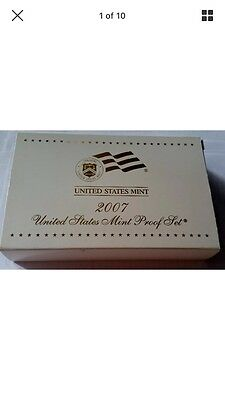 2007 U.S. Mint Proof Set 14 Coins with original box and COA Unopened Box