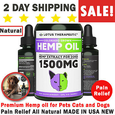 Premium Hemp oil for Pets Cats and Dogs Pain Relief All Natural MADE IN USA NEW