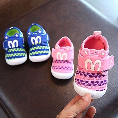 Toddler Child Kids Baby Boy GIrl Squeaky Single Soft Shoes Sneaker Prewalker New
