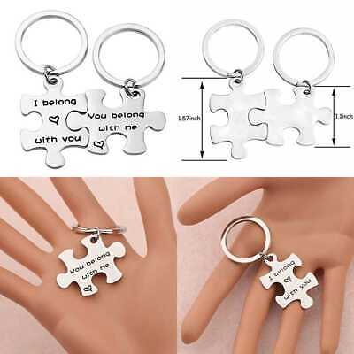 COUPLES KEYCHAIN 2 Two Initials Date Keychain Couples