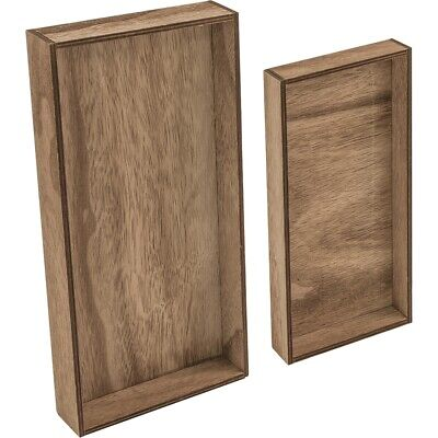 "Idea-ology Wooden Vignette Trays 2/pkg-brown 4.75""x9""x1.25"" & 6""x12""x1.25"""