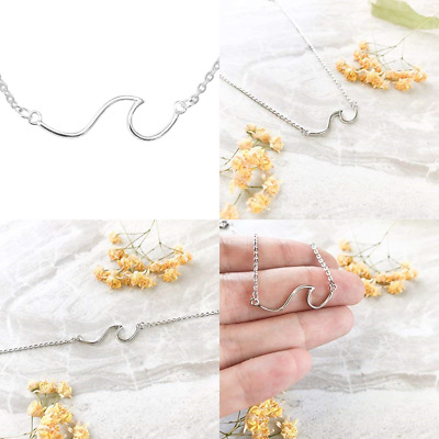 56fe726c642db ALTITUDE BOUTIQUE LINE Ocean Wave Necklace Sea Jewelry FREE SHIPPING