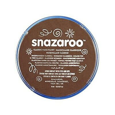 Snazaroo 18ml Face Paint - Light Brown - Colours Fancy Dress Classic Body