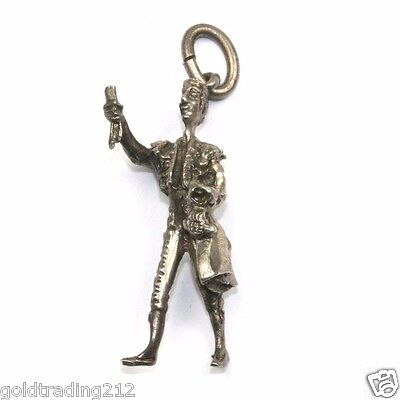 Vintage Royal Court Crier Shaped Charm 925 Sterling Ch 142