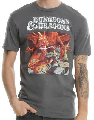 d01509cc8bf5 Dungeons and Dragons Charcoal Men's Graphic T-Shirt New