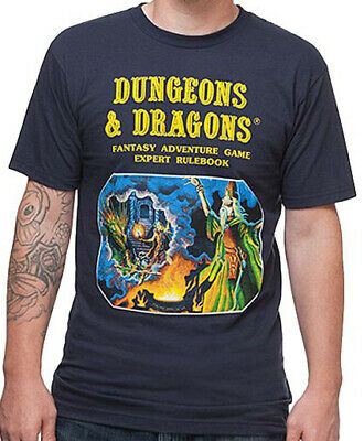 Dungeons and Dragons Navy Men's Graphic T-Shirt New