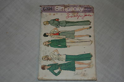 Vintage Simplicity Sewing Pattern #6191 Size 14 Misses Unlined Jacket