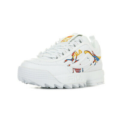 Calabrone Blanc Chaussures Blanche Disruptor Fila Femme Baskets Wn's Low Taille hrCtsdxQ