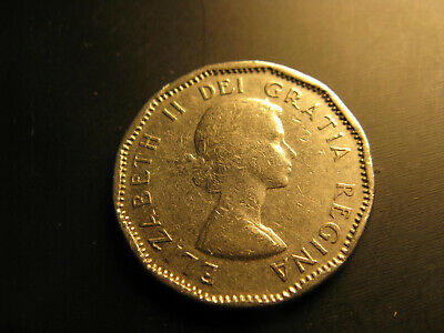 Canada 1958 Nickel 5 Cent Coin.