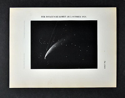 1894 Muller Celestial Map - The Donati Comet on October 5, 1858 - Space Print